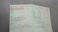 Die Fahrzeugidentifikationsnummer in einem Fahrzeugschein