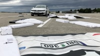 Kaputte Attrappe beim EuroNCAP Automated Driving Test