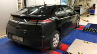 Der E-Auto Dauertester Opel Ampera auf dem Prüfstand in Landsberg