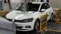 VW Polo auf dem PRüfstand