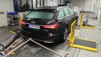 Standheizungtest Audi A6 auf dem Prüfstand