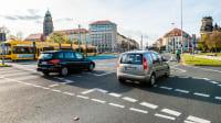 Blick auf Stadtverkehr