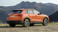 Audi Q3 Heckansicht in Orange