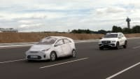 Mercedes GLE beim EuroNCAP Automated Driving Test
