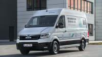 Den bei MAN eTGE getauften E-Transporter nennt VW e-Crafter