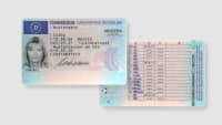 Abbildung der Vorder und Rückseite des neuen EU Führerscheins