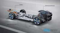 grafische Darstellung des Antriebs eines Mercedes EQC