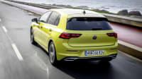 der neue VW Golf in Gelb