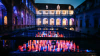 Licht-Wasser-Schauspiel beim Klanglicht Lichterfest in Graz