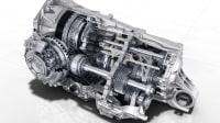 Ein porscha 8-Gang Getriebe im Querschnitt