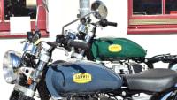 Nahaufnahme Lenker Sommer 516 Motorrad