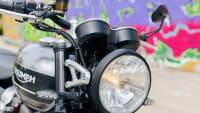 der Scheinwerfer der Triumph Speed Twin