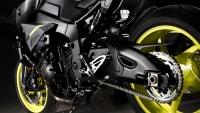 Blick auf den Unterbau der Yamaha MT-10