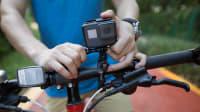 Dashcam auf dem Lenker eines Fahrrads