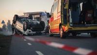 Krankenwagen bei einem Autounfall