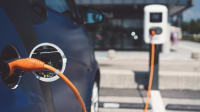 Elektro Auto an der Ladestation