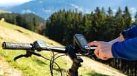 Navigationsgerät am Fahrrad