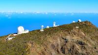 Das Observatorium auf dem Roque de los Muchachos