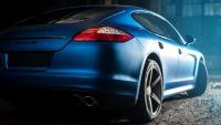 Heck des Porsche Panamera in Mattlack
