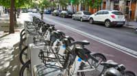 Leihräder in einer Stadt