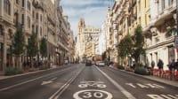 Straße in Madrid