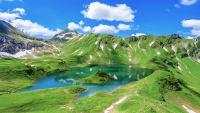 Alpensee Schrecksee im Allgäu in Bayern