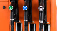 Zapfsäule mit E5, E10 und Diesel