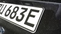 Kennzeichen eines Elektroautos