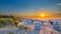 Strandkörbe auf der Insel Juist