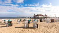 Strandkörbe am Strand von Ahlbeck auf Usedom