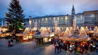 Der Linzer Hauptplatz bietet den barocken Rahmen für den Christkindlmark