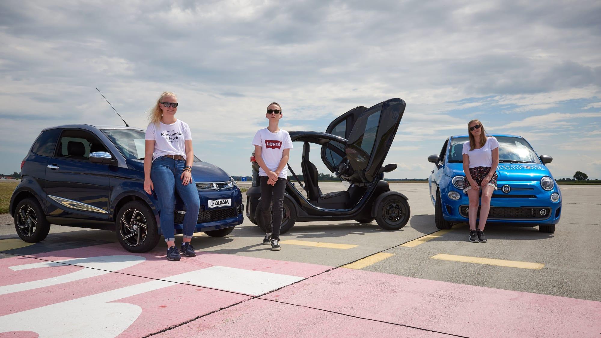 Aixam Renault Twizy 45 und Ellenator