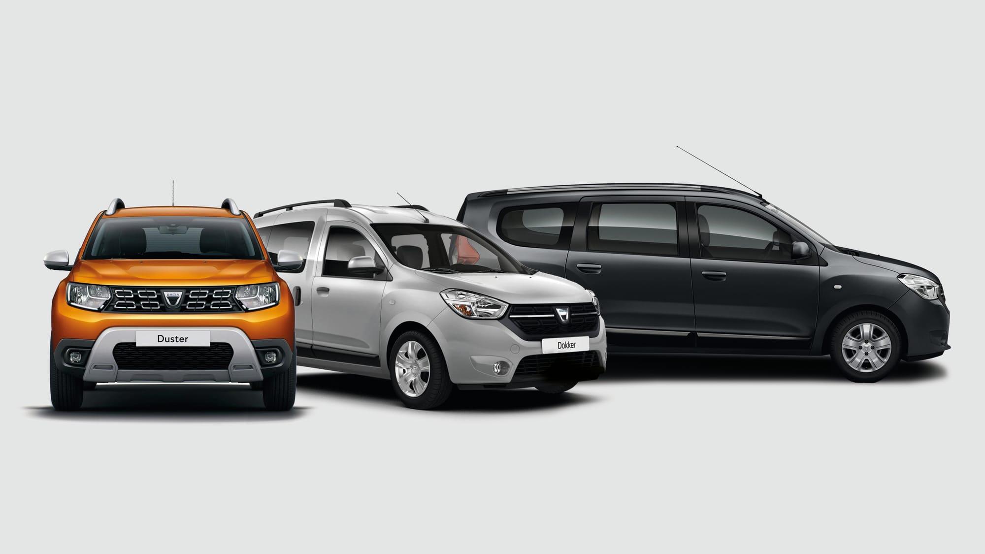 Dacia Duster, Dacia Dokker und Dacia Logan