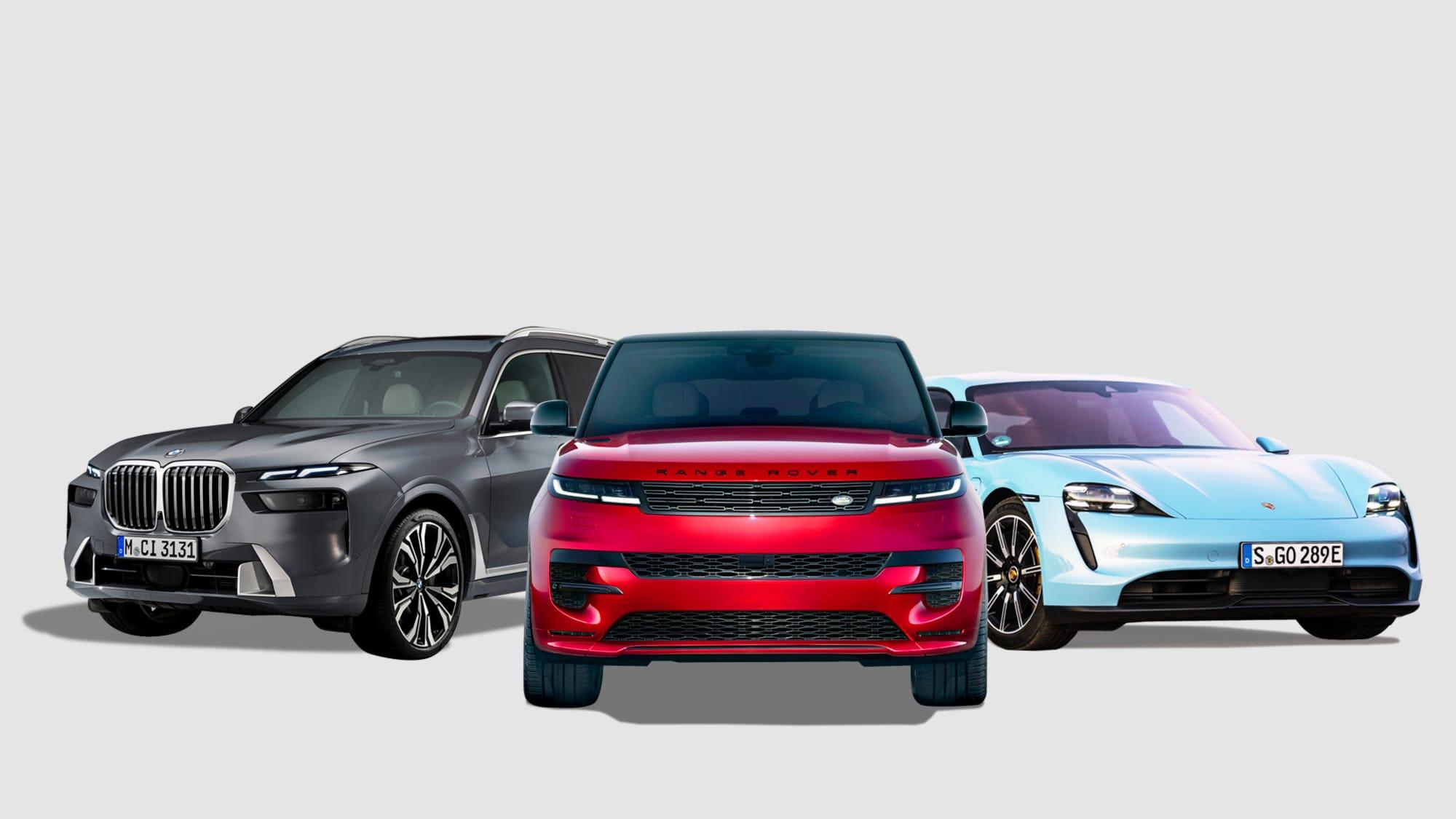 Land Rover Range Rover Sport, BMW X7 xDrive, Porsche Taycan