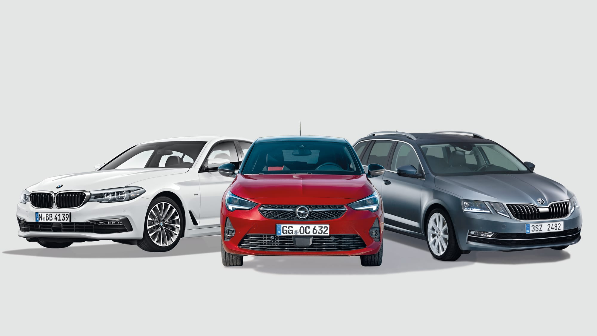 BMW 520d, Opel Corsa, Skoda Octavia Combi