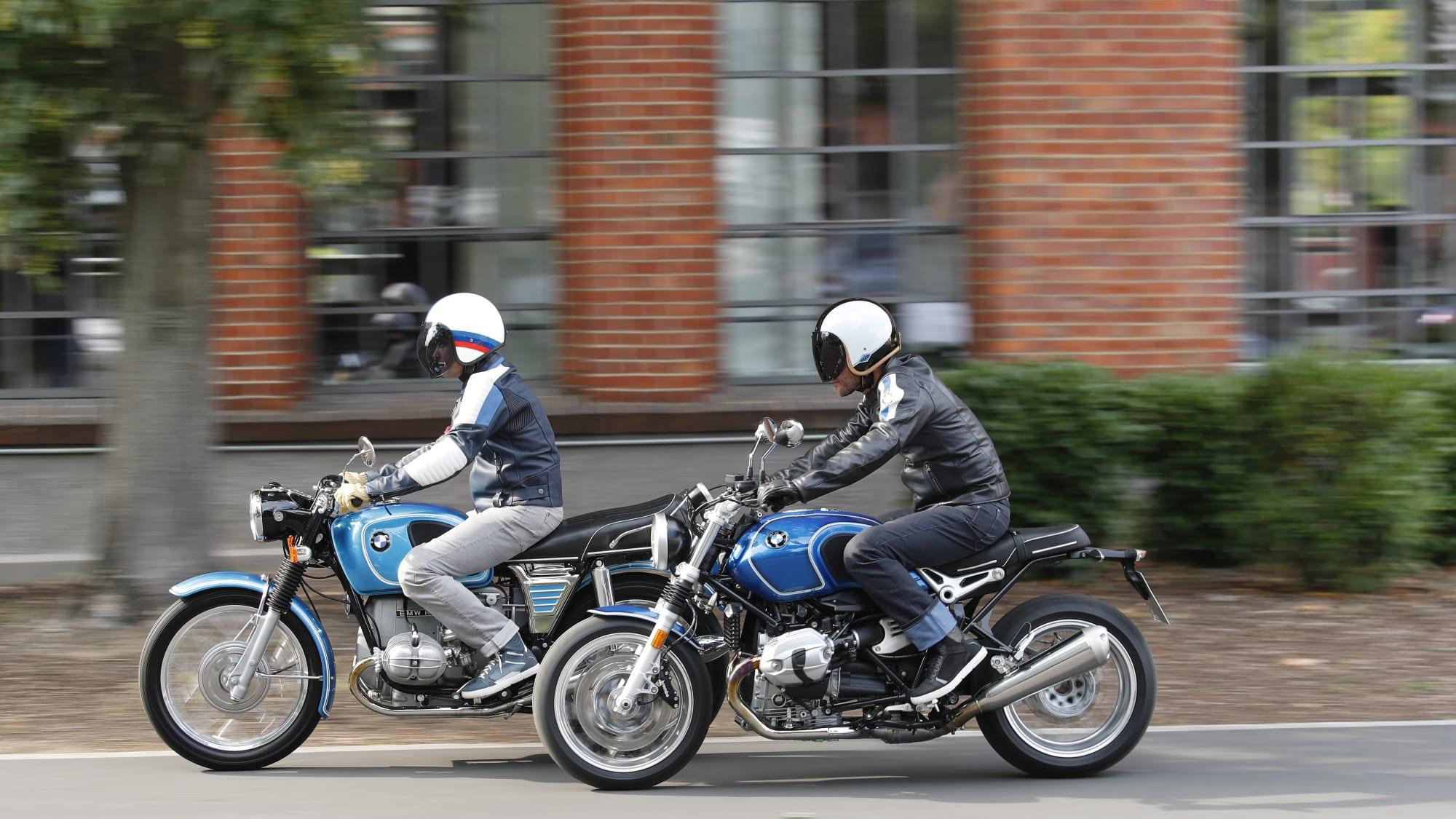 BMW R 75/5 von 1969 und R nineT /5 von 2019