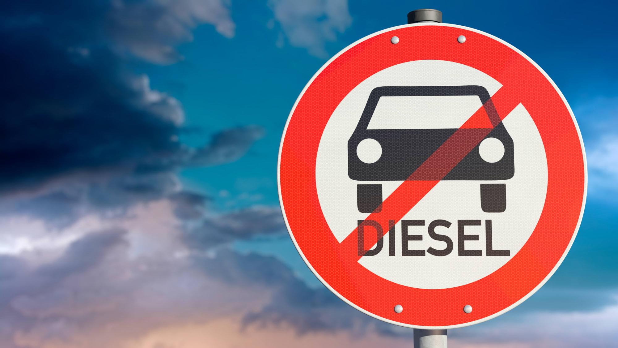 Diesel Verbotsschild