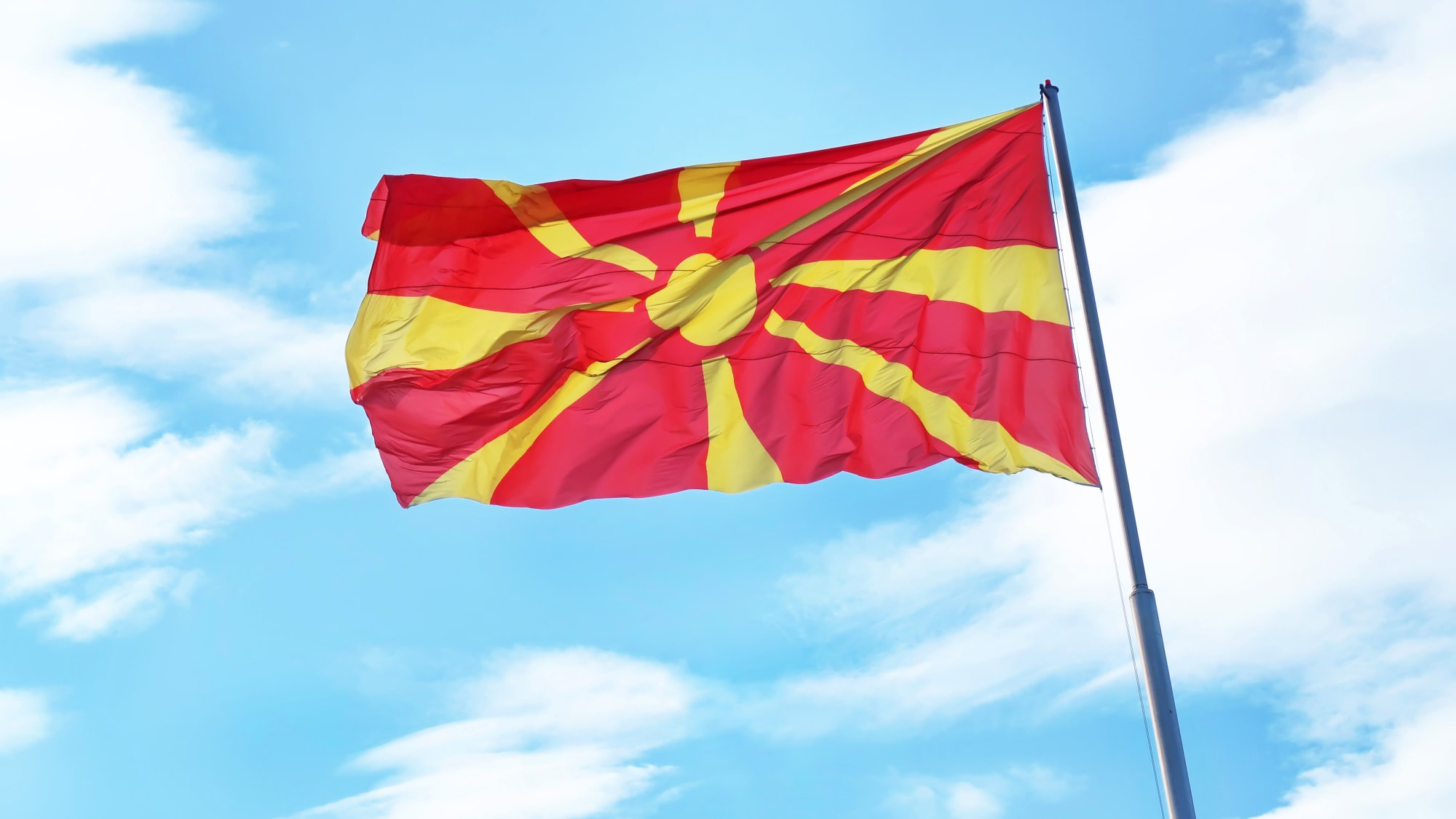 Flagge von Mazedonien