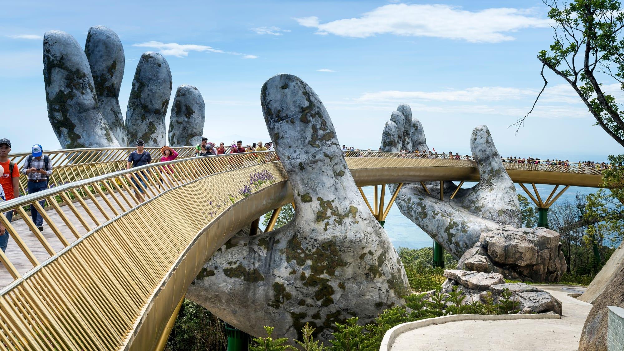 Brücke Cai Vang in Vietman
