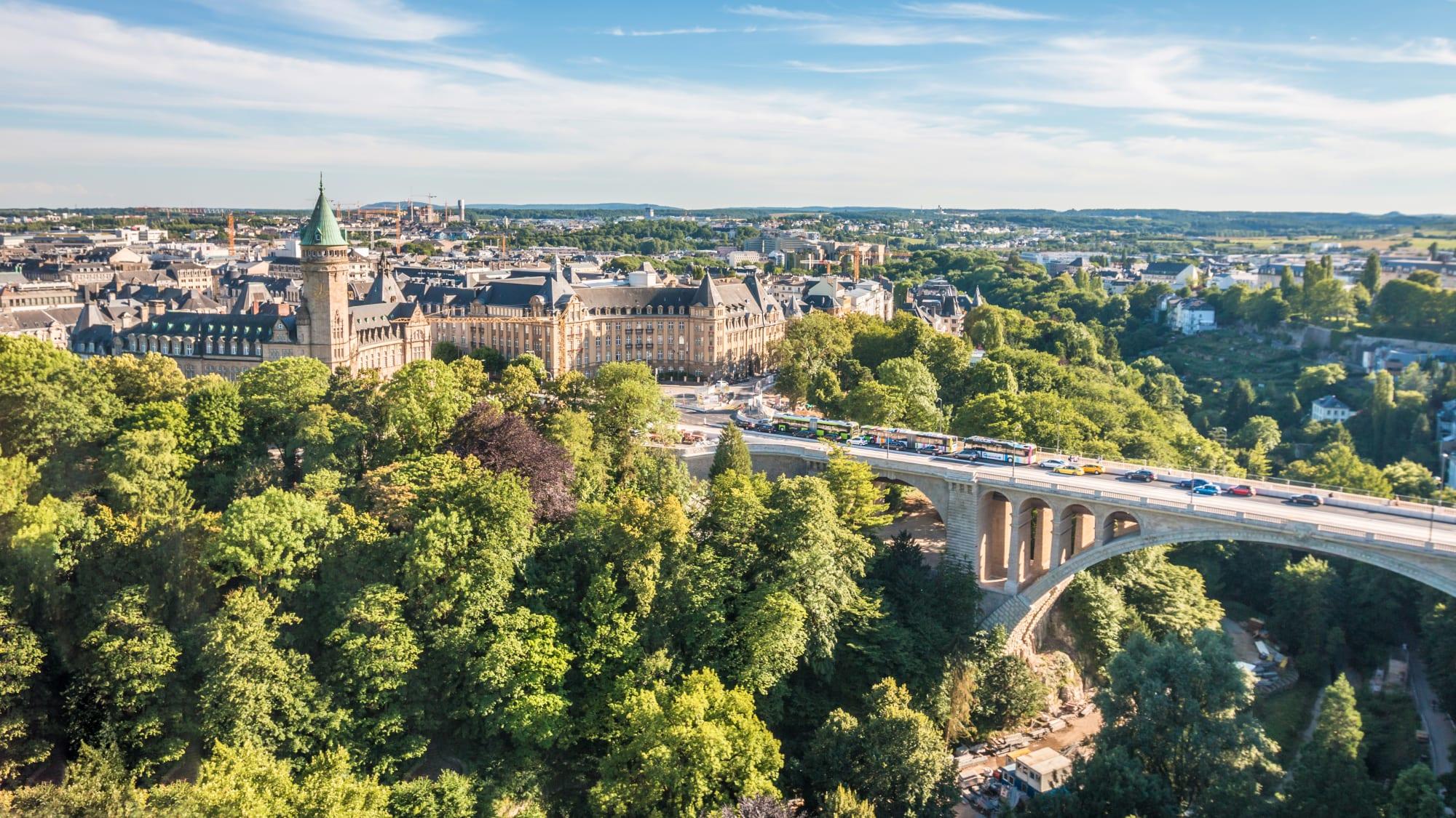 Blick auf Luxemburg