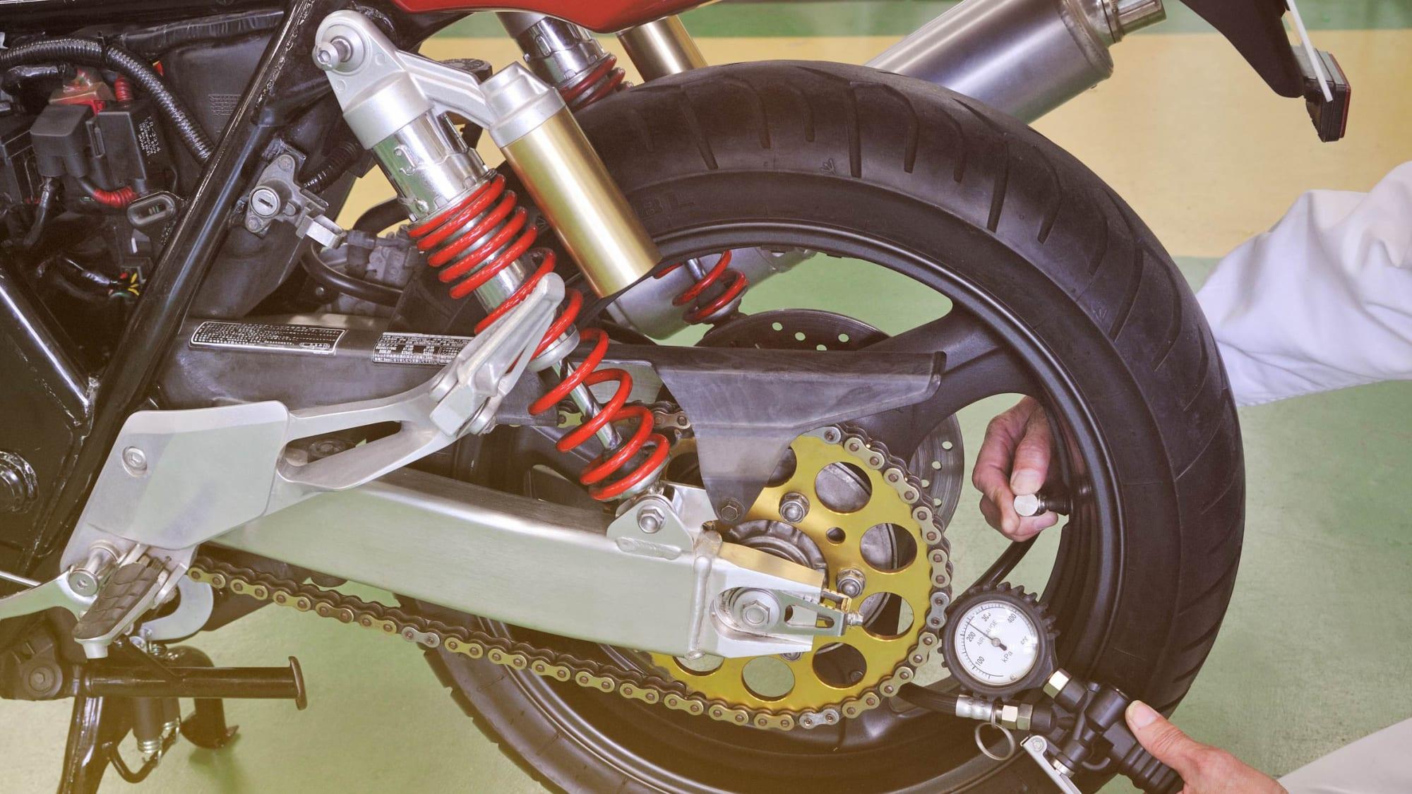 Motorrad wird winterfest gemacht