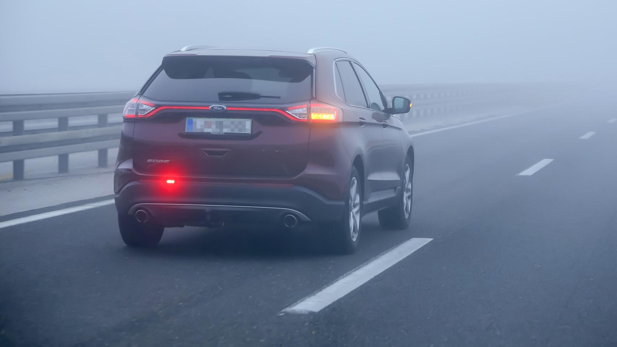 Nebelschlussleuchte Autobahn