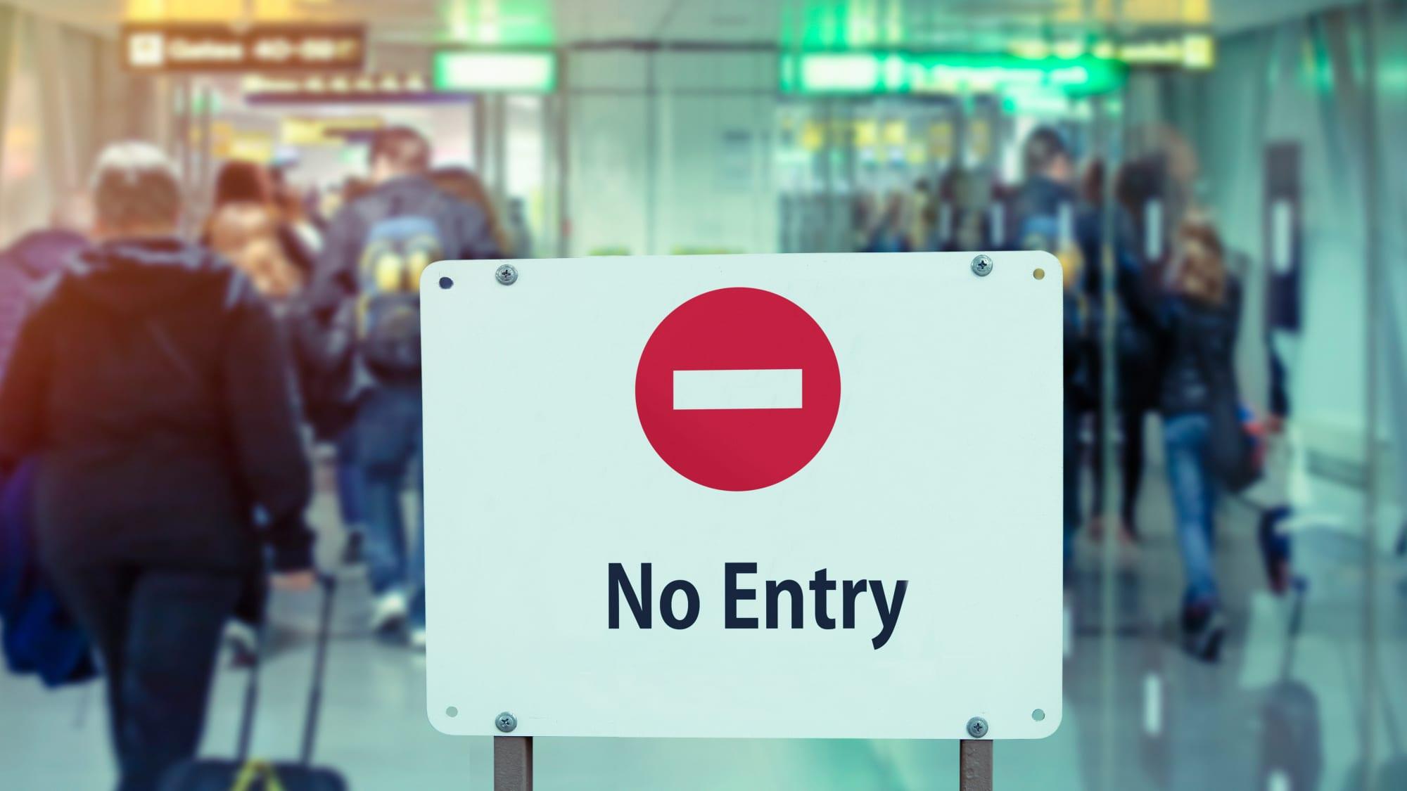 Flughafen kein Durchgang