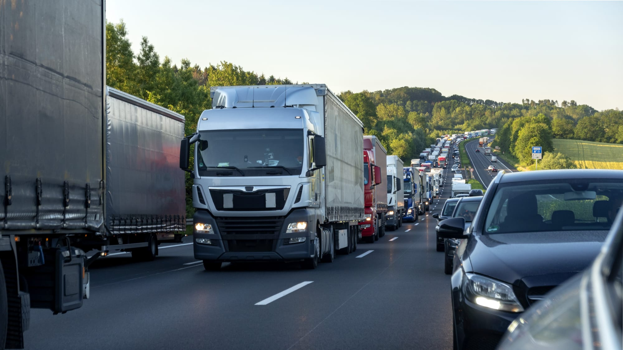 Rettungsgasse auf der Autobahn