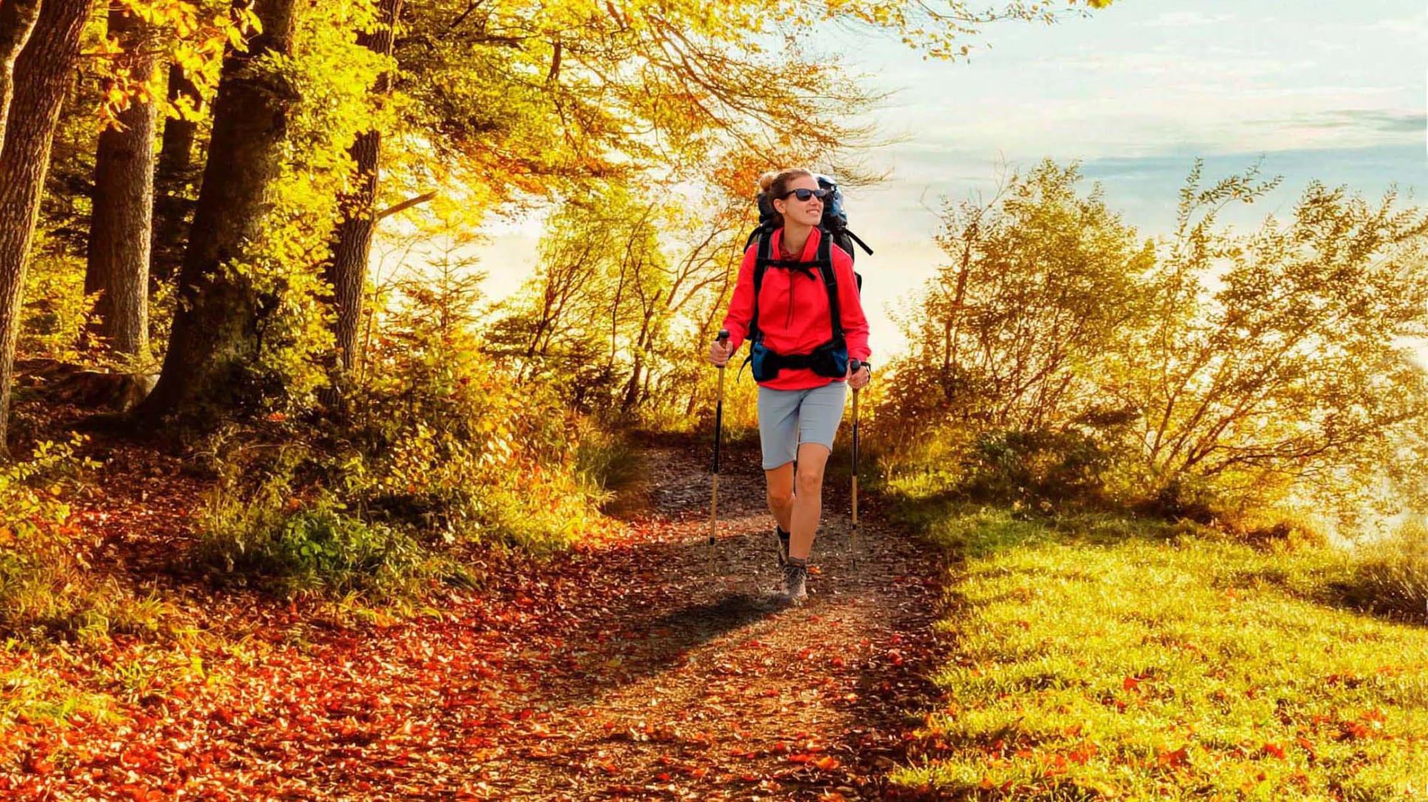 Wandern im Herbst in Deutschland