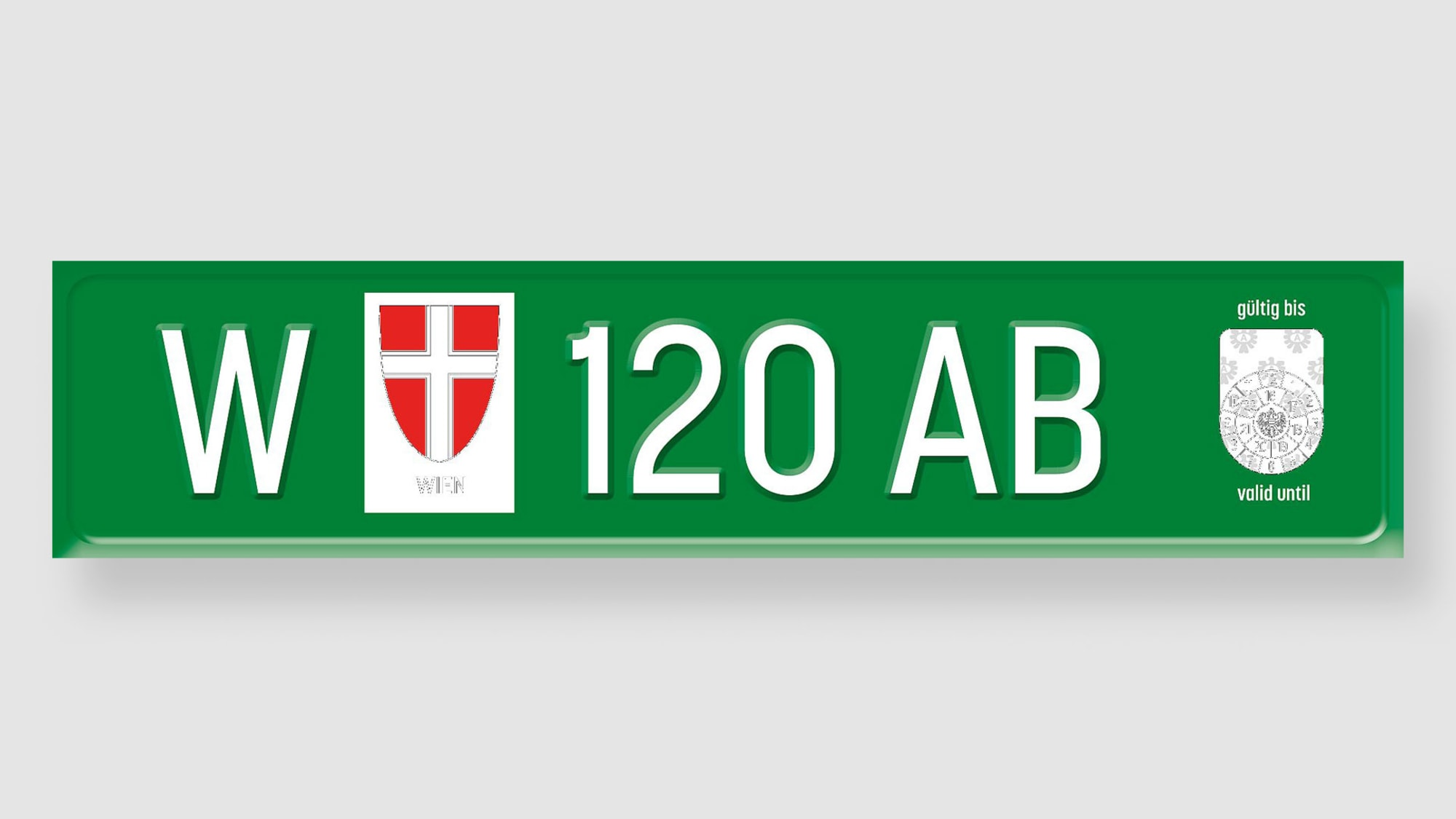 ein Überführungskennzeichen aus Österreich