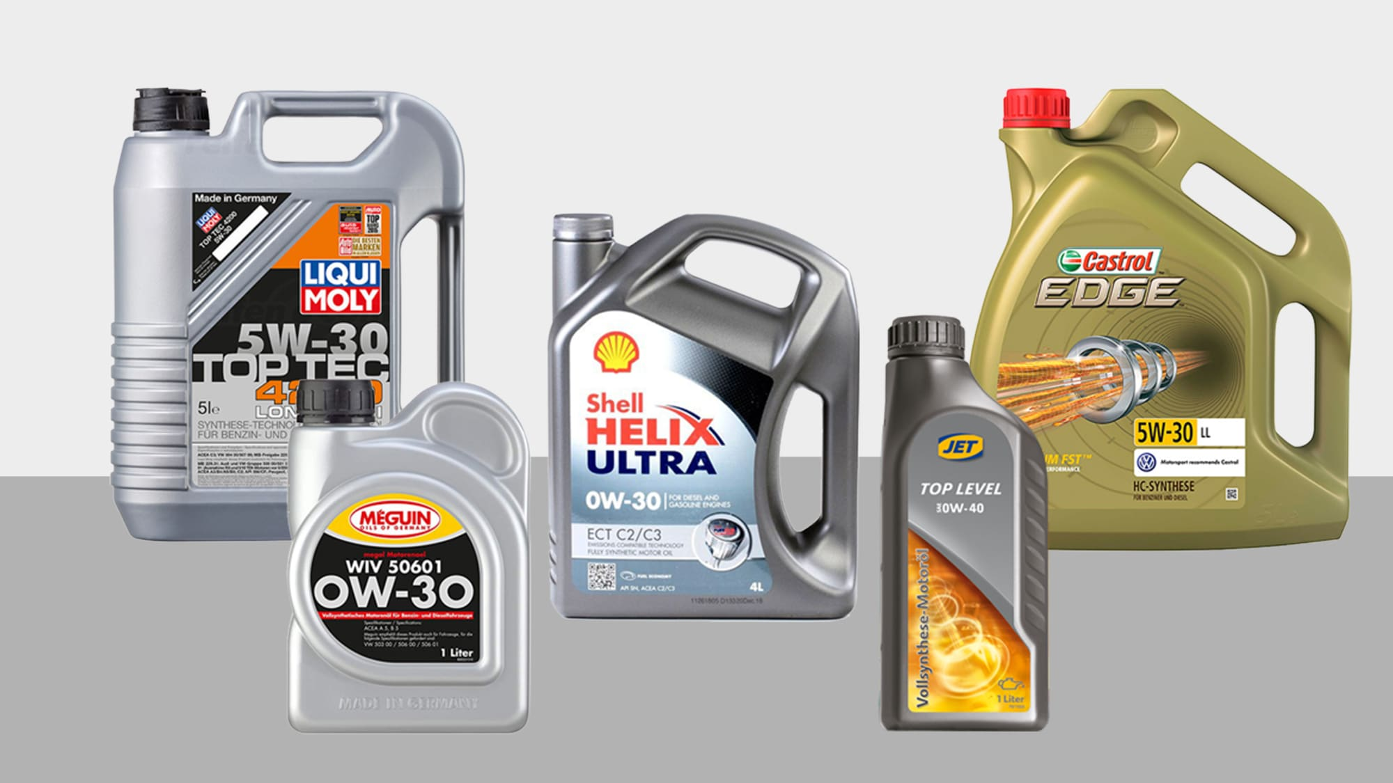 Different motor oils for the car