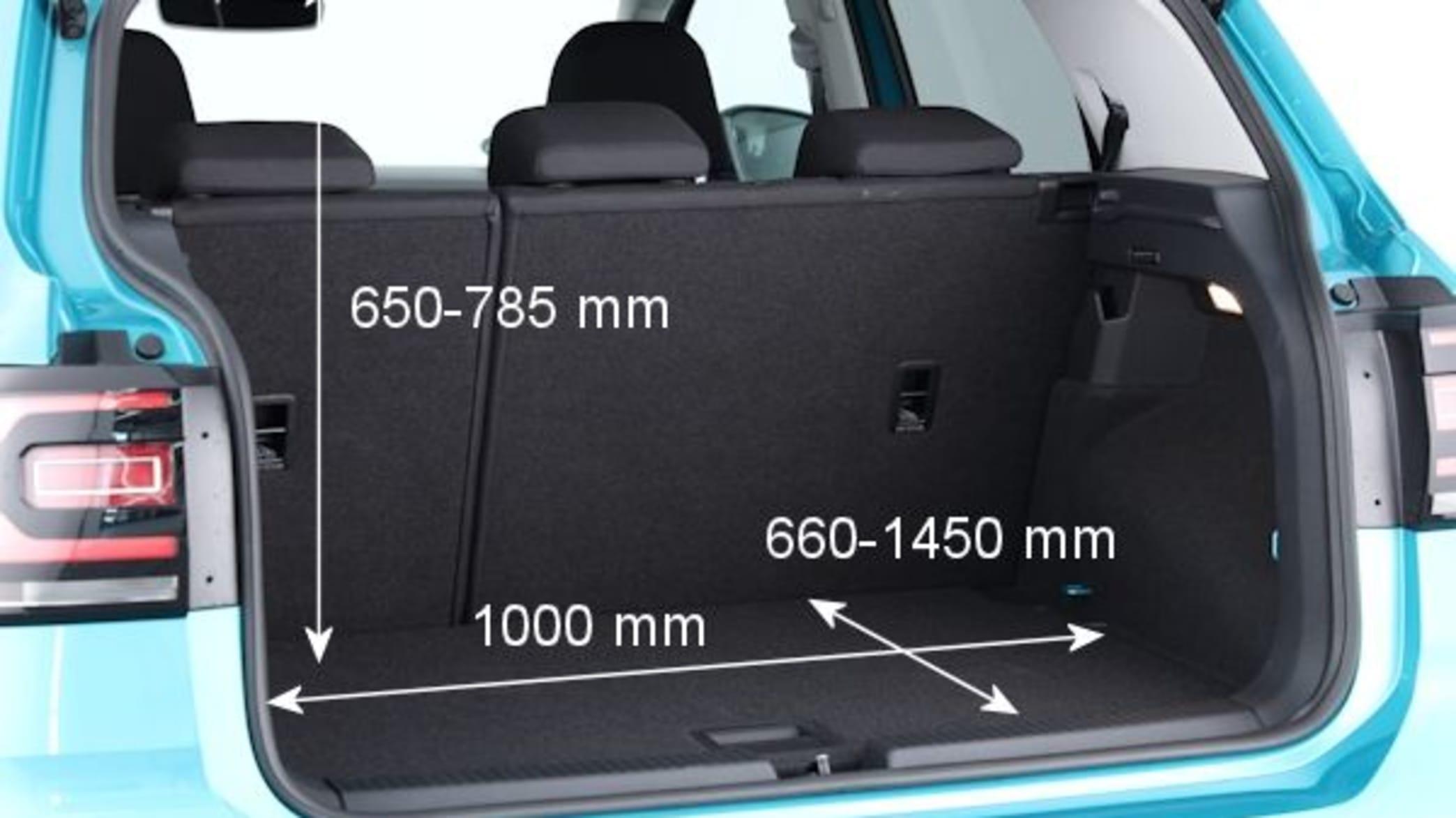 Der Kofferraum des VW T-Cross