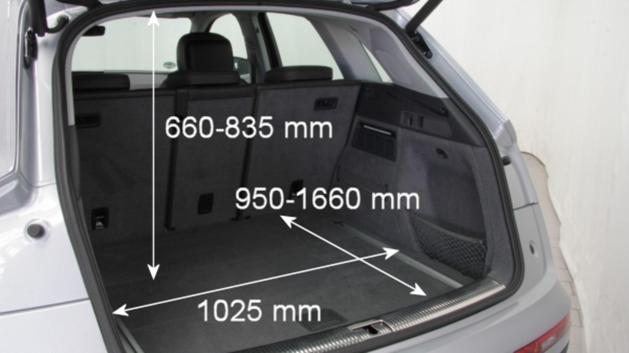 Kofferraum eines Audi Q5s mit Maßen