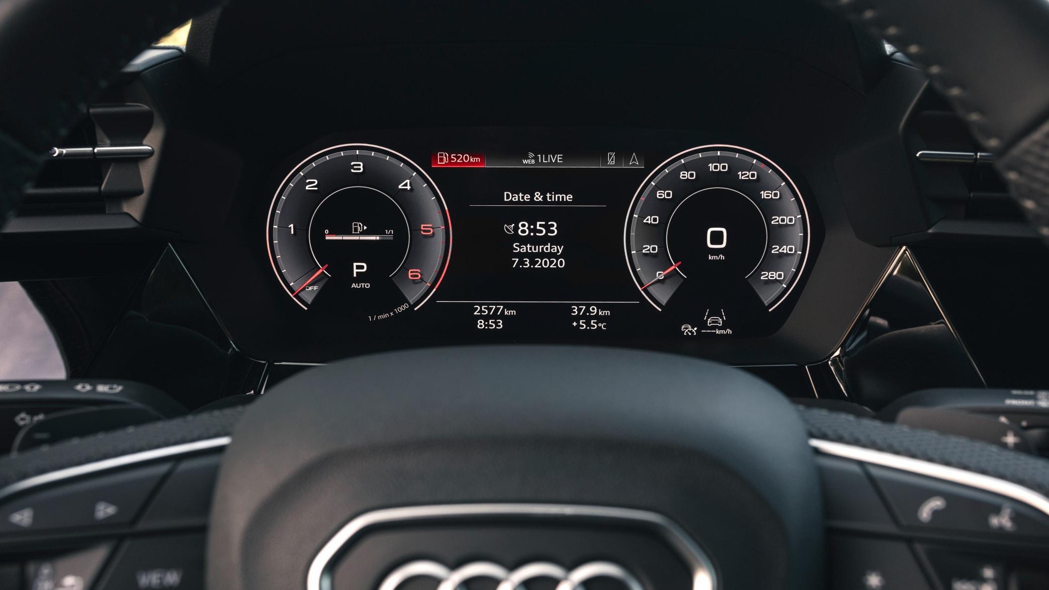 Display des Audi A3
